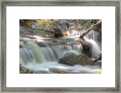 Sable Falls In Pictured Rocks Framed Print by Twenty Two North Photography