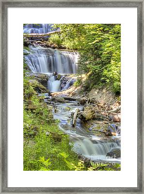 Sable Falls In Summer Framed Print by Twenty Two North Photography
