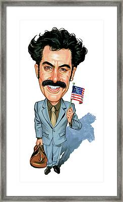 Sacha Baron Cohen As Borat Sagdiyev  Framed Print by Art