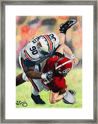 Sack By Fairley Framed Print by Lance Curry