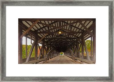 Saco River Bridge Framed Print by Karen Stephenson