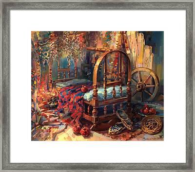 Sacrament Of A Cradle Framed Print by Meruzhan Khachatryan