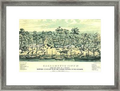 Sacramento California 1849 Framed Print by Padre Art
