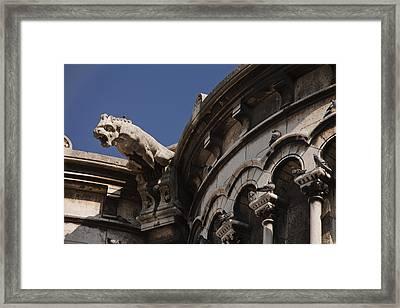 Sacre Coeur Gargoyle Framed Print by Art Ferrier