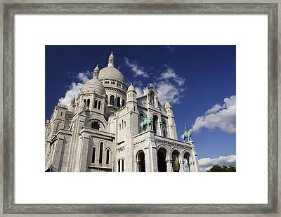 Sacre Coeur Paris Framed Print by Gary Eason
