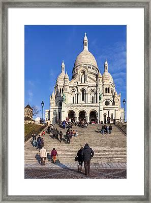 Sacre Coeur - Parisian Landmark Framed Print by Mark E Tisdale