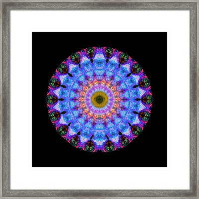 Sacred Crown - Mandala Art By Sharon Cummings Framed Print by Sharon Cummings