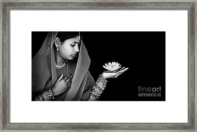 Sacred Flower Framed Print by Tim Gainey