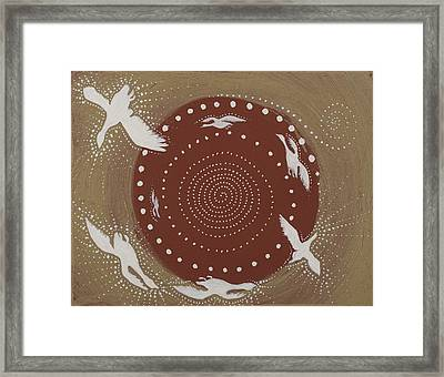 Sacred Geese Framed Print by Sophy White