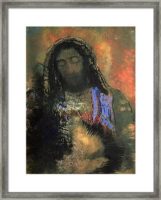 Sacred Heart Framed Print by Odilon Redon