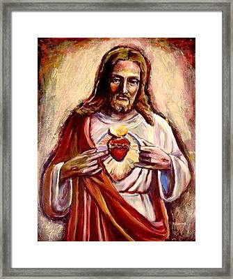 Sacred Heart Framed Print by Sheila Diemert