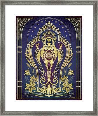Sacred Mother - Global Goddess Series Framed Print by Cristina McAllister