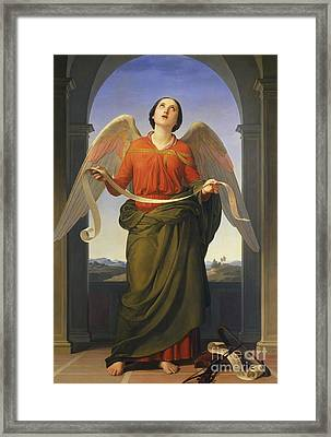 Sacred Music Framed Print by  Luigi Mussini
