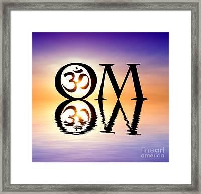 Sacred Om Framed Print by Tim Gainey