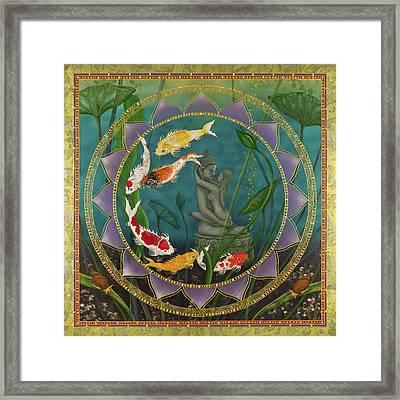 Sacred Pond Framed Print by Nadean OBrien