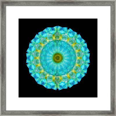 Sacred Voice - Mandala Art By Sharon Cummings Framed Print by Sharon Cummings
