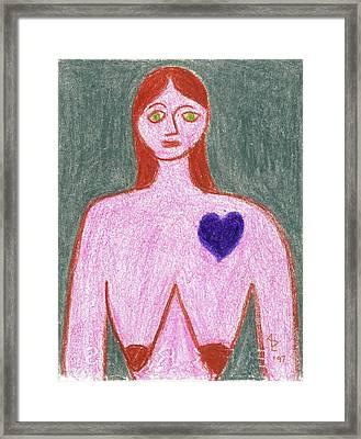 Sad Framed Print by Anita Dale Livaditis