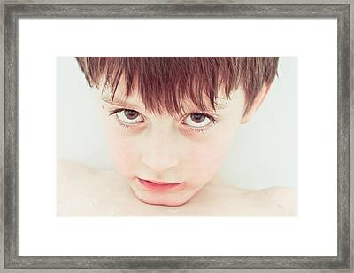 Sad Child Framed Print by Tom Gowanlock