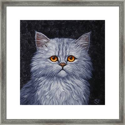 Sad Kitty Framed Print by Crista Forest