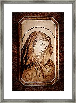 Sad Madonna Framed Print by G S