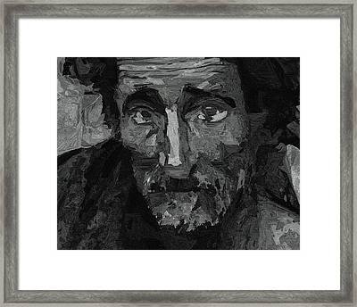 Sad Man Framed Print by Ayse Deniz