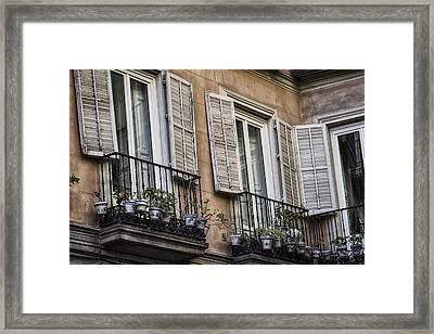 Sad Windows Framed Print by Joan Carroll