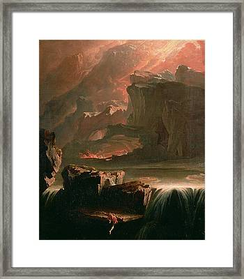 Sadak In Search Of The Waters Framed Print by John Martin