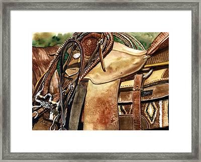 Saddle Texture Framed Print by Nadi Spencer