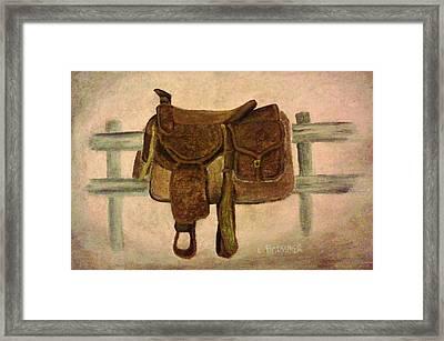 Saddle Up Framed Print by Christy Saunders Church