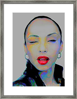 Sade 3 Framed Print by  Fli Art