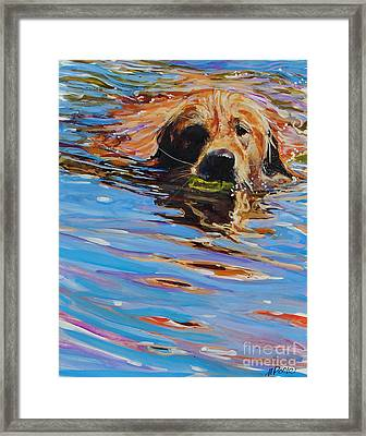 Sadie Has A Ball Framed Print by Molly Poole