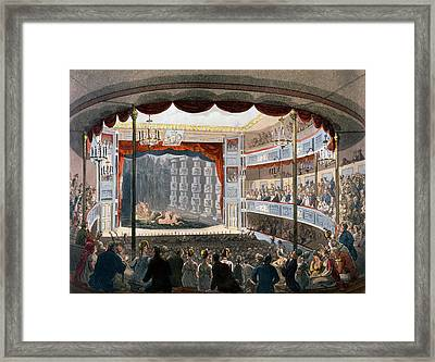 Sadlers Wells, From Ackermanns Framed Print by T. & Pugin, A.C. Rowlandson