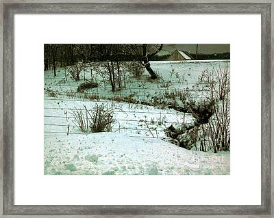 Sadowsky's Farm Along The Eel River Road 6 Pm Framed Print by Charlie Spear