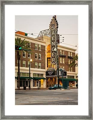 Saenger Theatre New Orleans Framed Print by Steve Harrington