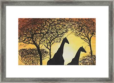 Safari Framed Print by Shannan Peters
