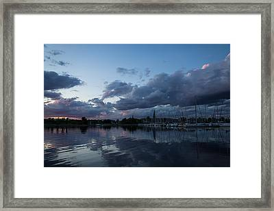 Safe Harbor After The Storm Framed Print by Georgia Mizuleva