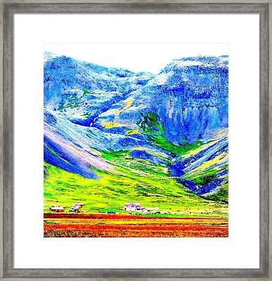 Do You Feel Safe In The Valley Or Do You Fear The Walls Will Tumble Down  Framed Print by Hilde Widerberg