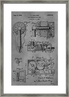 Safe Lock Framed Print by Dan Sproul