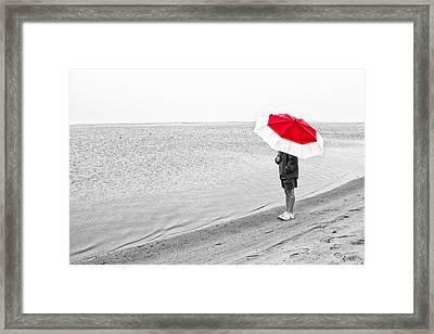 Safe Under The Umbrella Framed Print by Karol Livote