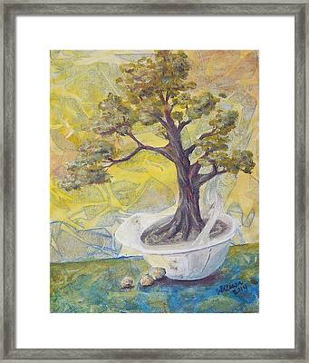 Safely Sustainable Framed Print by Arlissa Vaughn