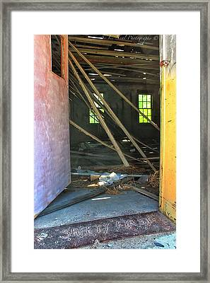 Safety First Framed Print by Sarah Neal