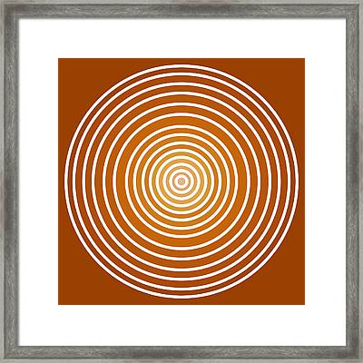 Saffron Colored Abstract Circles Framed Print by Frank Tschakert
