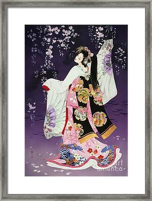 Sagi No Mai Framed Print by Haruyo Morita