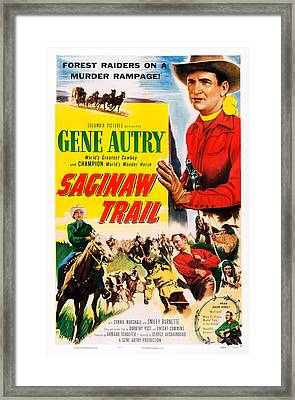 Saginaw Trail, Us Poster, Gene Autry Framed Print by Everett