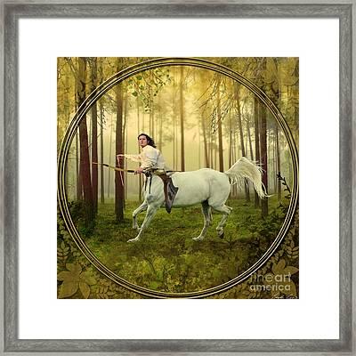 Sagittarius Framed Print by Linda Lees