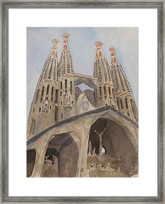 Sagrada Familia Barcelona Framed Print by Henrieta Maneva