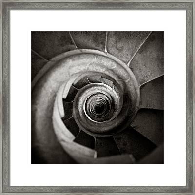 Sagrada Familia Steps Framed Print by Dave Bowman