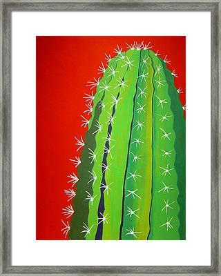 Saguaro Cactus Framed Print by Karyn Robinson