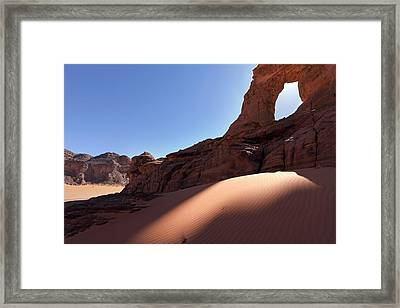 Saharan Rock Formations Framed Print by Martin Rietze