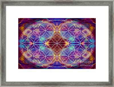 Sahasrara Abstract Chakra Art By Omaste Witkowski Framed Print by Omaste Witkowski